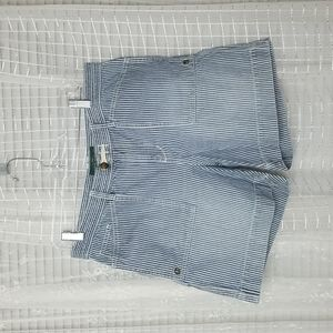 RALPH LAUREN Blue Nautical Stripe Button Shorts Sz10